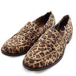 Dirty Laundry Vegan Leopard Suede Flats 7.5